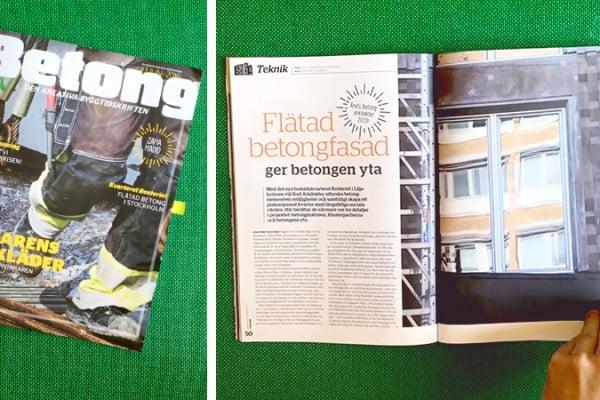 Rosteriet i Tidskriften Betong
