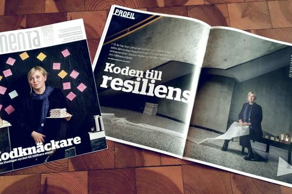 Sanna Hederus på omslaget till Tidningen Cementa