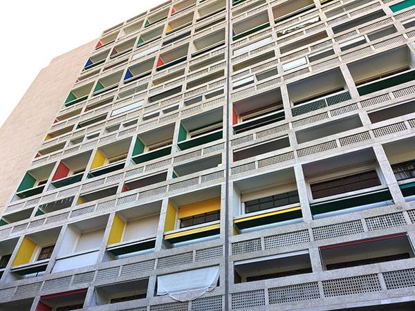 Cité Radieuse, Unité d'Habitation. Arkitekt: Le Corbusier